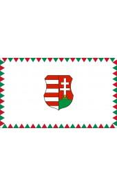 Farkasfogas Kossuth címeres zászló 40x60cm