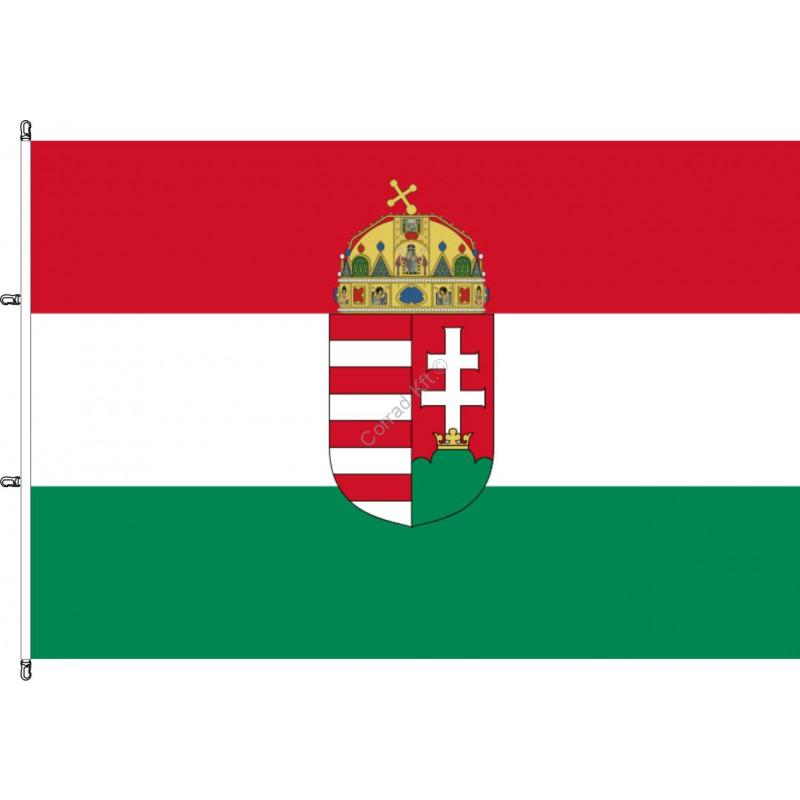 Karabineres fekvő Magyar címeres zászló